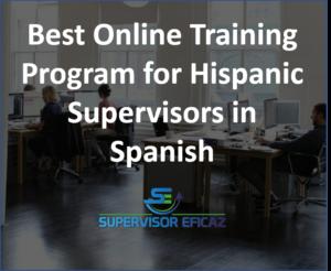 online program for supervisors spanish