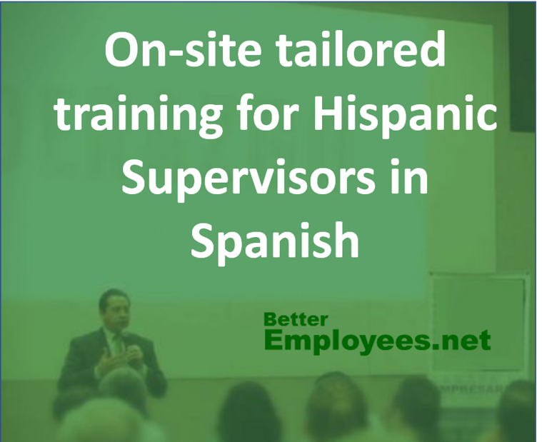 CUSTOMIZED EMPLOYEE TRAINING (BILINGUAL)