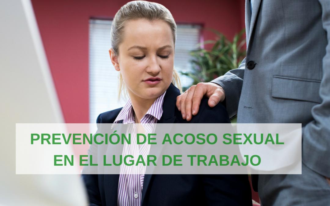 Capacitación para prevenir demandas por acoso sexual en el trabajo