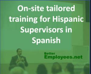 Onsite training effective supervisor