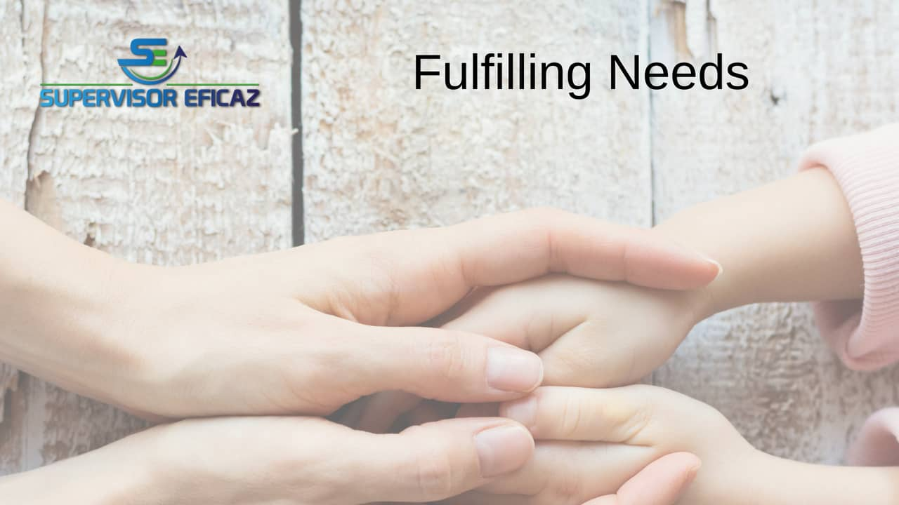 fulfil needs as effective supervisor