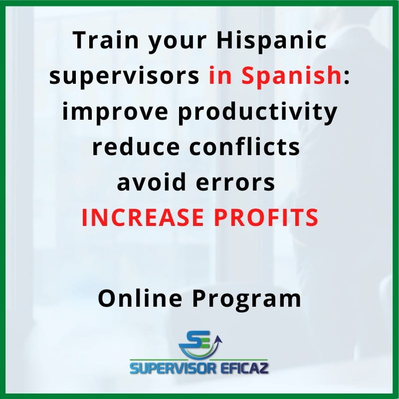 effective supervisor - online leadership training in spanish