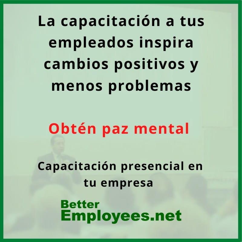 capacitacion para supervisores y lideres en español