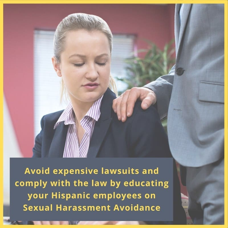 sexual harassment avoidance training in spanish