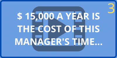 manager's cost of dealing with problems and complaints