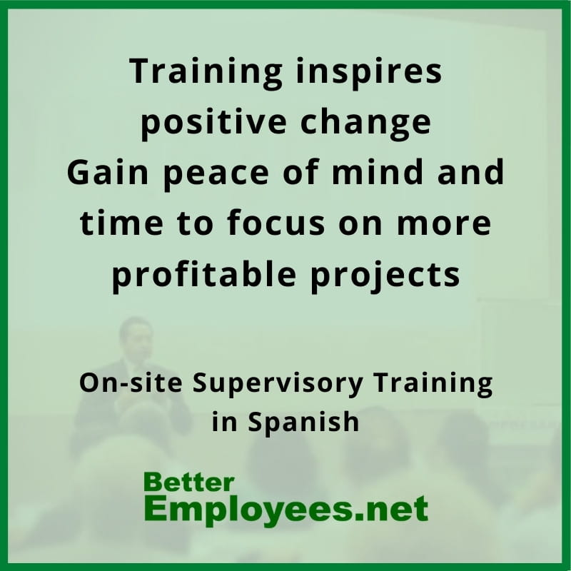 onsite training for supervisor in spanish