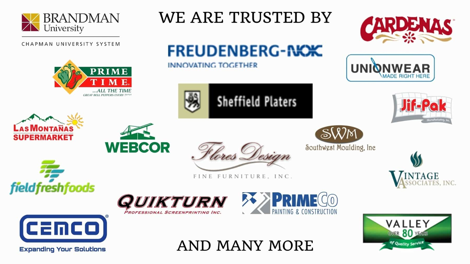 we are trusted by these companies - online supervisory training program